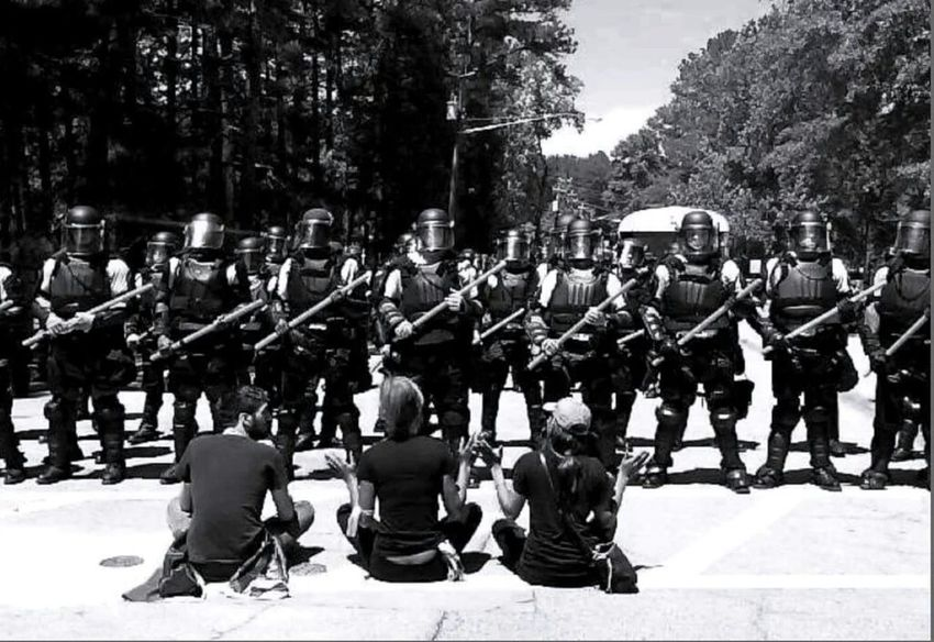 Confederate Flag/KKK Rally ~ Stone Mountain, GA .... Social Justice Black And White Social Documentary Stone Mountain Park Ga Rally Swat Team Black & White Monochrome Photography My Year My View Resist The Photojournalist - 2017 EyeEm Awards Black And White Friday The Troublemakers