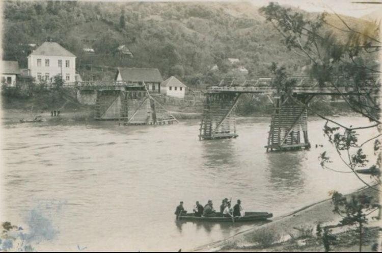Old Photo Žepče River Bosnia River Old Town Bridge Old Bridge