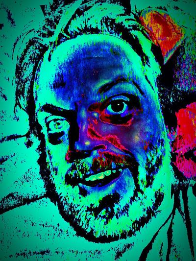 Mondays Portrait Multi Colored Green Color Human Face One Person Stage Make-up Trippy Art Trippy First Eyeem Photo