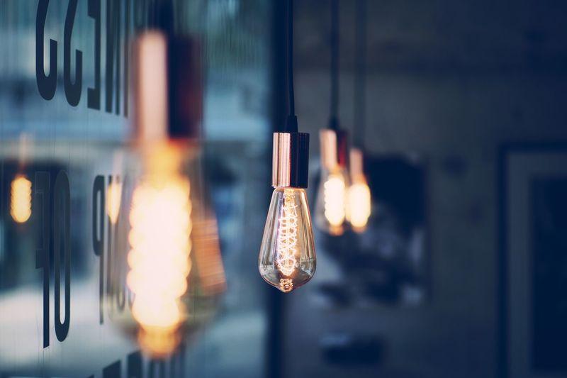 Close-Up Of Light Bulbs