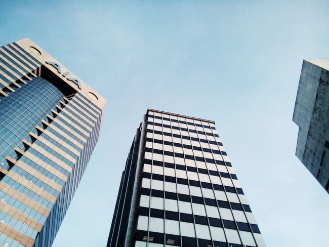 Skyscraper Architecture Business Finance And Industry Low Angle View Building Exterior Day Sky Cityscape Modern Built Structure Building Photography Building And Sky Buildings Kuala Lumpur Malaysia  VSCO Cam VSCO PhonePhotography Phone Photography Architecture Cloud - Sky