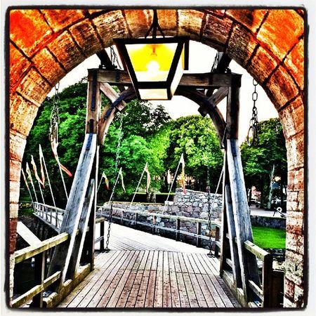Kalmar Slott Bro Bridge summer sun sol sommar småland sverige