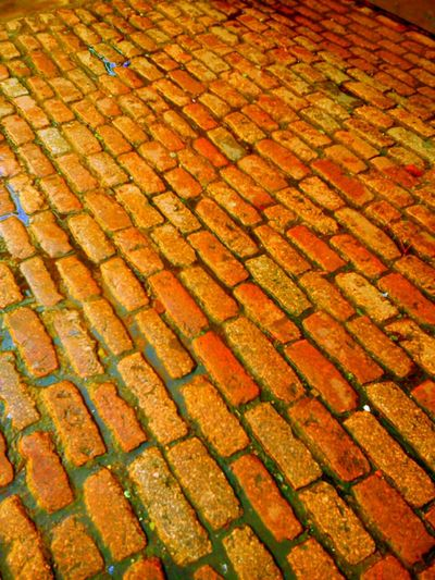 Old street path The Path Less Traveled By Pointer Footwear Pantone Colors By Gizmon Red Brick Stone Pavement