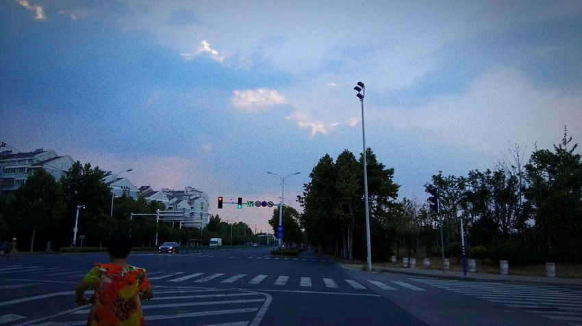On The Way Back Home One Man Only City Sky Blue Quiet Summer Views Road Tree One Person VERANO 2017