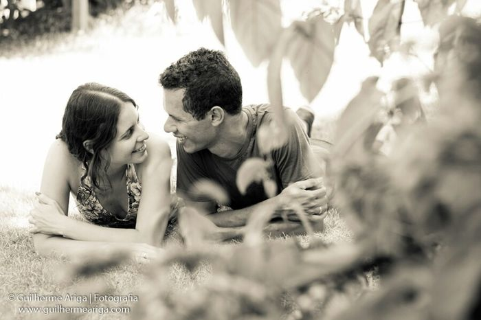 Estar apaixonados significa olha na mesma direção ambos e sempre estar felizes !!! Sessaokarinaealex Guilhermearigafotografia