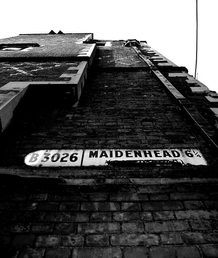 Maidenhead Black And White Signs Wall WeAreJuxt.com Nikon TheMinimals (less Edit Juxt Photography) DSLR Blackandwhite