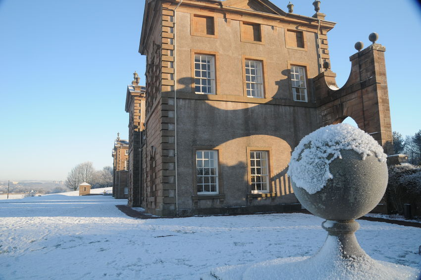 Castle Historical Building Hunting Lodge No People Scotland Sky Winter