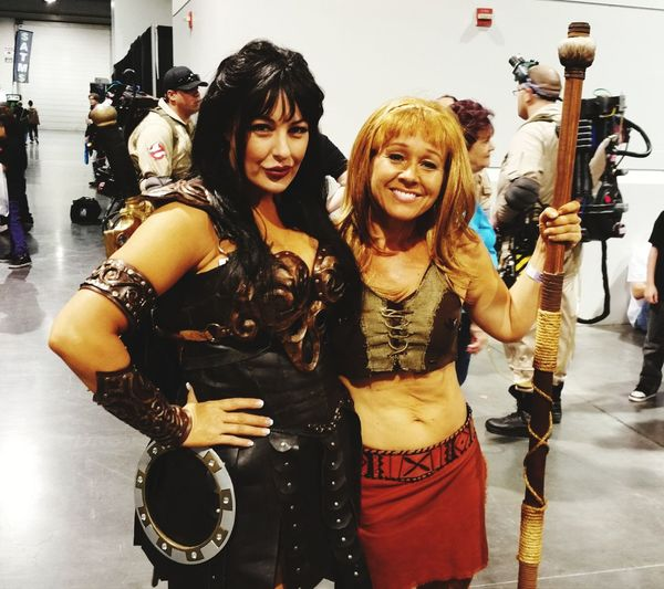 Fun Enjoyment Only Women Smiling People Friendship Looking At Camera Night Arts Culture And Entertainment Comicon Las Vegas