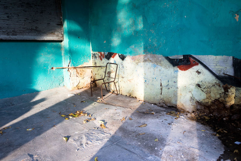 Colors Cuba Havana Abandoned Architecture Built Structure Damaged Day Destruction Light And Shadow No People Still Life