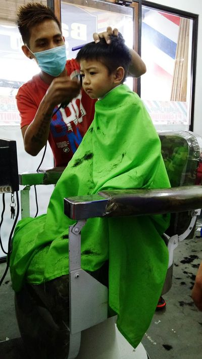 Barberscut Barbershop Toddleryears Toddlerphotography Childhood Haircut Toddlerlife Boys Toddlersofeyem Eyeem Philippines