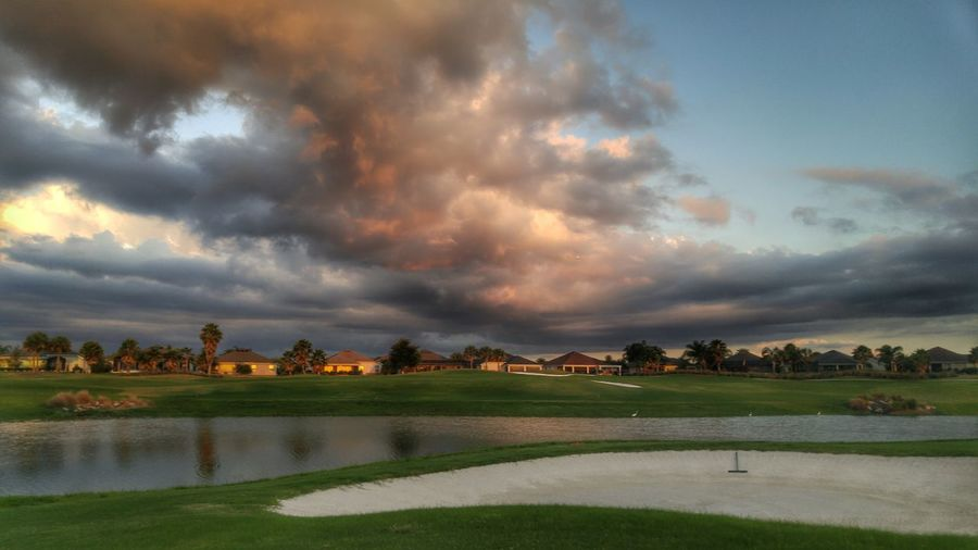 Storm Clouds Lake View Golf Course Lake Clouds Cloudporn Mother Nature Clouds And Sky Nature Photography Beautiful Nature Beauty In Nature Cloud - Sky I Love Sunsets Cloud_collection