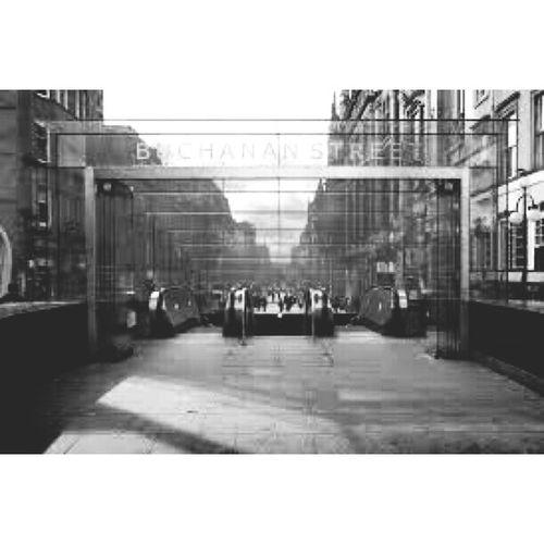 Buchanan Street Glasgow  Blac&white