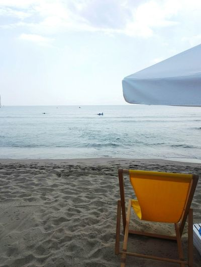 Beach time Water Sea Beach Sand Summer Relaxation Chair Drink Sky Horizon Over Water Beach Party Cocktail
