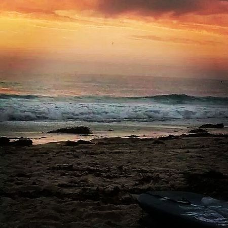 Boogieboarding into the Sunset Saturdaynight Waterismylife boarding beach tropical sandiego itdoesntgetbetterthanthis