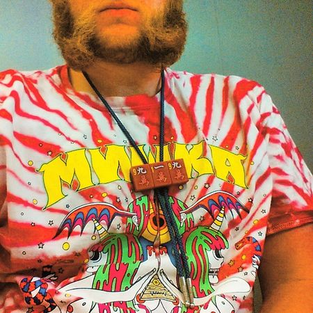 Mishka shirt with the Shep bolo. 919 foo! Raleighwood to Hollywood. RESPECT THE CHOPS Raleigh Bolotie BolosByShep steezy steez supreme stussy thehundreds mishka dmnd diamondsupplyco publish halloffame pinkdolphin millennial custom handmade oneofone freshtodeath muttonchops