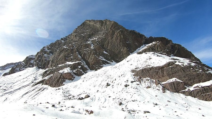 Mountain snow, valley and landscape Snow Cold Temperature Winter Scenics - Nature Mountain Beauty In Nature Snowcapped Mountain Nature