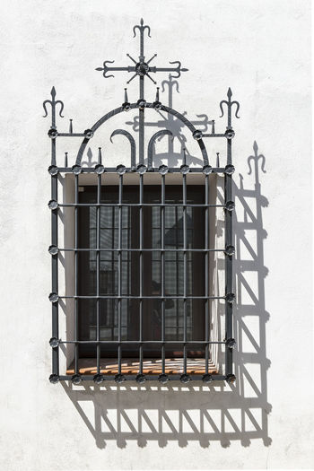 Architecture Building Exterior Built Structure Day Iron - Metal Metal Metal Grate No People Outdoors Security Bar Window Wrought Iron