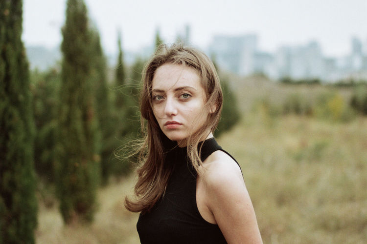35mm film 35mm Film Natural Beauty Canon Film Photography Analog Portrait Blond Hair Beauty Looking At Camera Tree Long Hair Sky The Modern Professional This Is Natural Beauty My Best Photo International Women's Day 2019