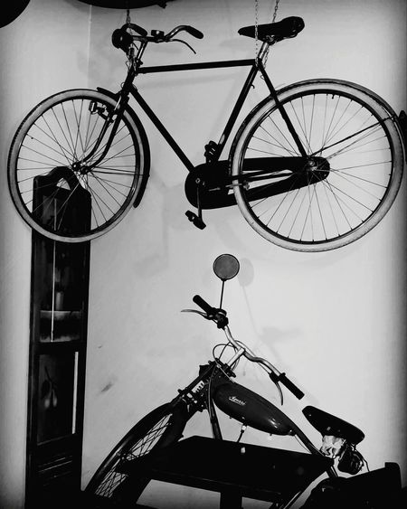 Bicycle No People Hanging Indoors  Day Clock Face Minute Hand