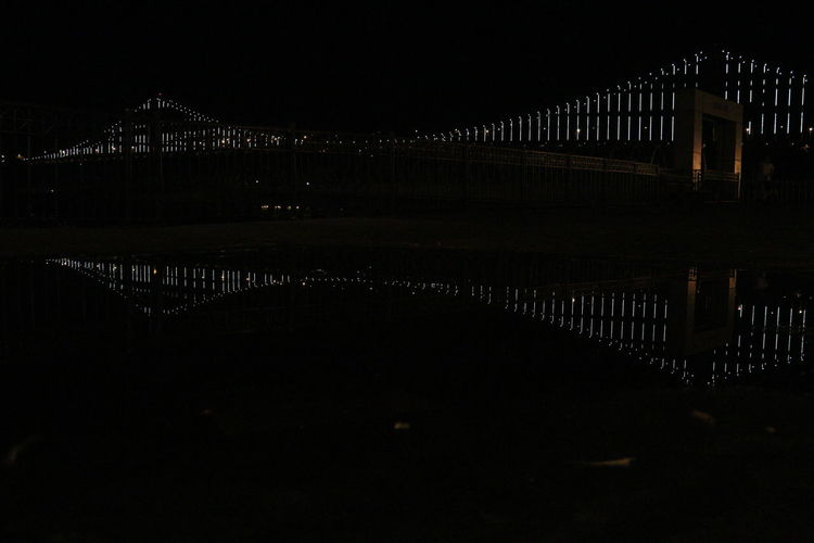 Bridge Bridge View Over Bay Clear, Night Sky, Reflection, Evening Lights & Shadows Lights At Dusk Night Lights Nightphotography Water Dramatic Angles