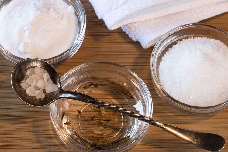 Bath time! Bath Soak Skin Treatment Spa Baking Soda Epsom Salt Lavender Baby Oil Sea Salts Relax
