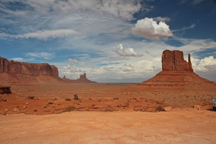 Beautiful monument valley Cloud - Sky Sky Scenics - Nature Tranquil Scene Beauty In Nature Rock Formation Tranquility Rock Non-urban Scene Landscape Physical Geography Environment Geology No People Rock - Object Idyllic Land Travel Destinations Remote Nature Climate Arid Climate Formation Eroded Sandstone