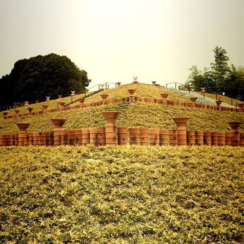 恵解山古墳。きれいな前方後円墳に整備されてこの前古墳公園として一般公開されたとこ。 TTadaa CommunitylLandscaperRuins Tumulus Tomb Sky Park Green Ancient Grave