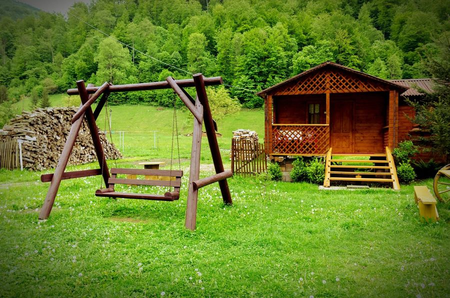 Wooden Rustic Rustic Style Wooden Swing Wooden House Forest Nature Outdoors Eye4photography  Rural Landscape
