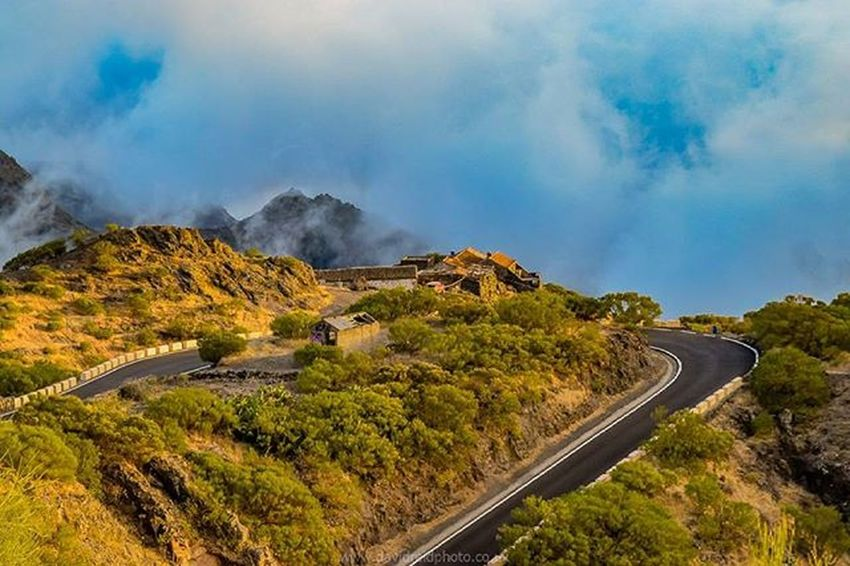 House in the clouds. Took this from high up in the Teno mountains of Tenerife just as the clouds started to close in. Tenerife Canaryislands SPAIN Mountains Clouds Goldenhour Landscape Nikon Explore Adventure Travel Travelphotography Roadtrip