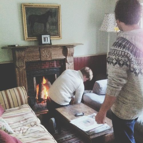 Getting The Fire Going At Our Withnail Style Cottage.