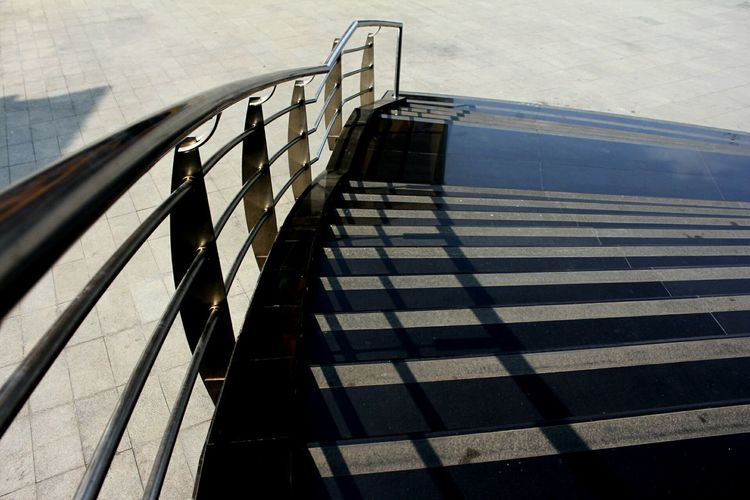 Stairs Shadow High Angle View Day