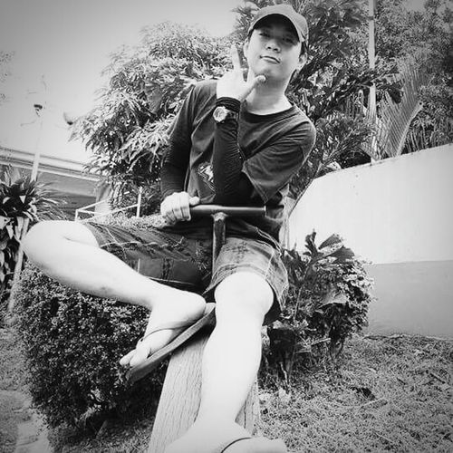 Being a kid is a privilege.. Black And White Relaxing Playground Feeling Like A Child Happy Moment♥ First Eyeem Photo Asian  Eyeem Asian