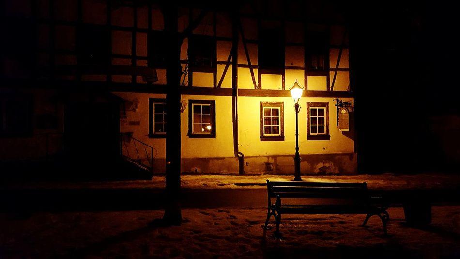 Ballenstedt, Germany Historical Building Harz Im Winter Sachsen-Anhalt Streetlamp Night Lights Night Photography Nightlife Night Shot Smartphone Photography From My Point Of View Walking Around Eyeem Photography Snow