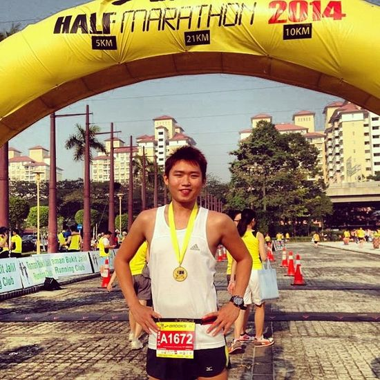 My first half marathon ,it will b unforgettable . Halfmarathon Keep  it up Positve Noregret Lovelife Stayhealthy