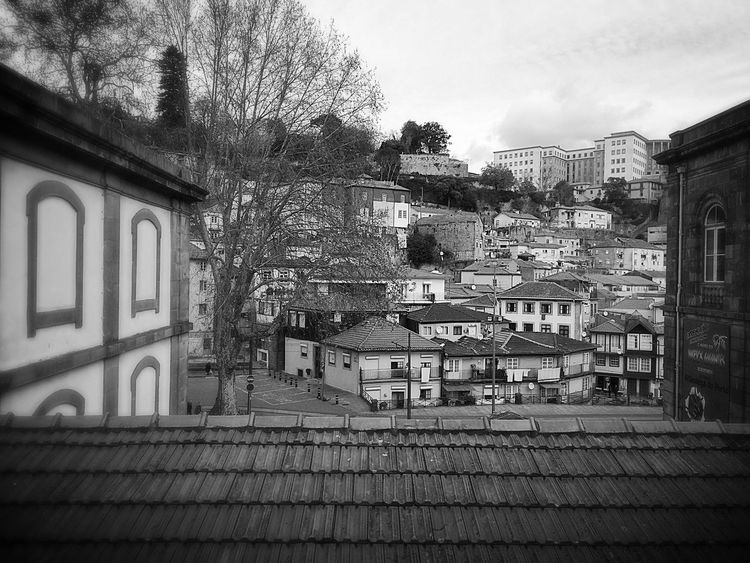 Porto Houses From My Point Of View Blackandwhite Black And White Blackandwhite Photography Portugal Portugal_lovers Rofftop Distant View