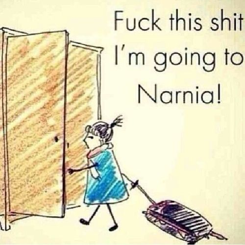Pardon my French but this is a must today. :) FedUp Happymonday  Ineedthebeach Narnia  packmysuitcases