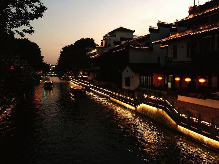 南京秦淮河 EyeEm 2018 EyeEm Best Shots Architecture Building Exterior Built Structure City Water Sky Illuminated