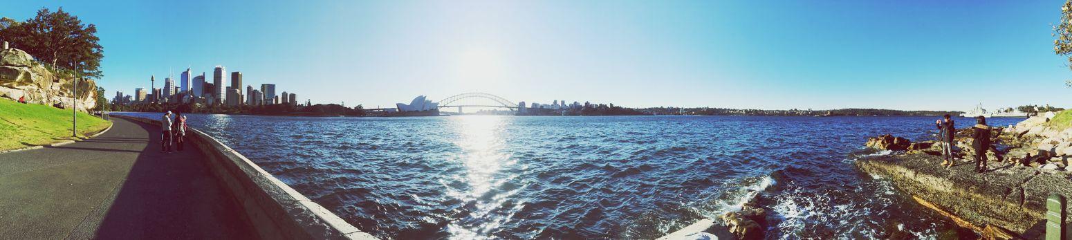Sydney Panorama City View Sightseeing Being A Tourist Landmark Australia