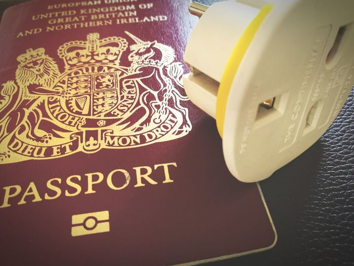 For travels to lovelier climes Passport Uk British Three Pin Plug Adapter Adapt Brexit Travel Packing Lovetotravel Europe
