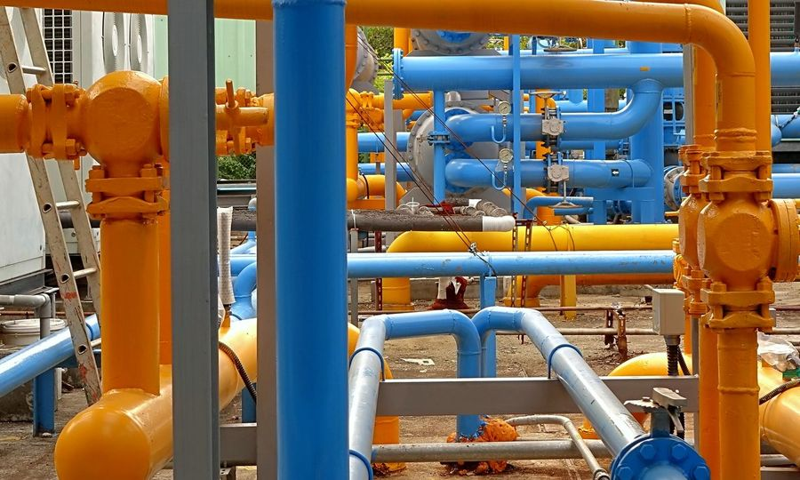 Tubes and pipes at a local oil terminal Energy Industrial Facility Oil Terminal Petroleum Facility Pipe Pipelines Power And Energy Tubes Valves