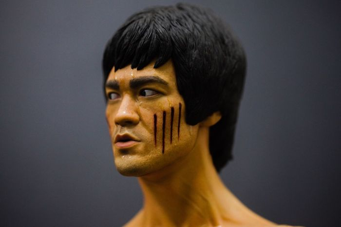 Studio Shot Headshot Black Hair Gray Background Adults Only One Person Close-up Young Adult Human Body Part Futuristic One Woman Only Adult Shirtless People Human Hand Bruce Lee