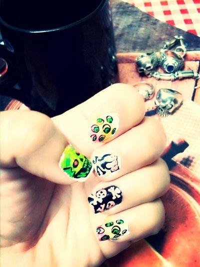 Skulls Skull Nail Art Girly Things  Nailart