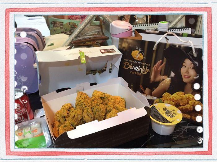 Yummy Fried Chicken Relaxing Enjoying Life Relaxing