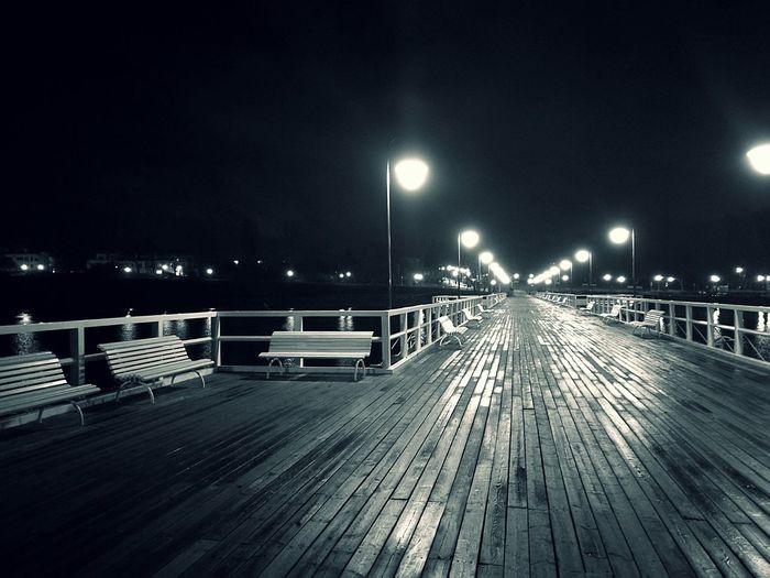 My Year My View Night Outdoors No People Pier Water Molo Gdynia Orłowo Ciszaispokój