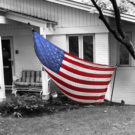 Memorial Day Remember IPhoneography Black & White Streetphoto_bw Street Photography Black And White Monochrome Flag