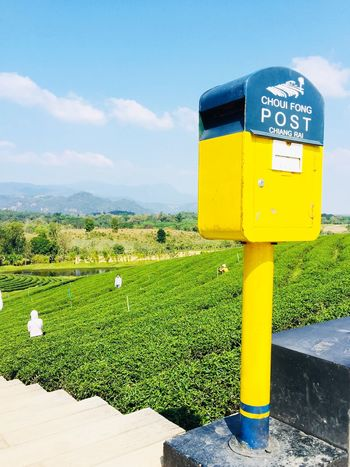 Post Box  Day Outdoors Sky No People Communication Field Grass Landscape Nature Cloud - Sky