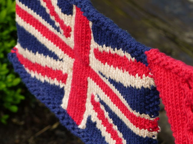 British Flag Knitted Bunting Union Jack Flag Union Jack Knitted Union Jack Knitting Fabric Texture