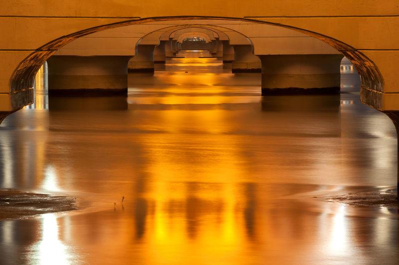 Illuminated Seongsan Bridge Over Han River At Night