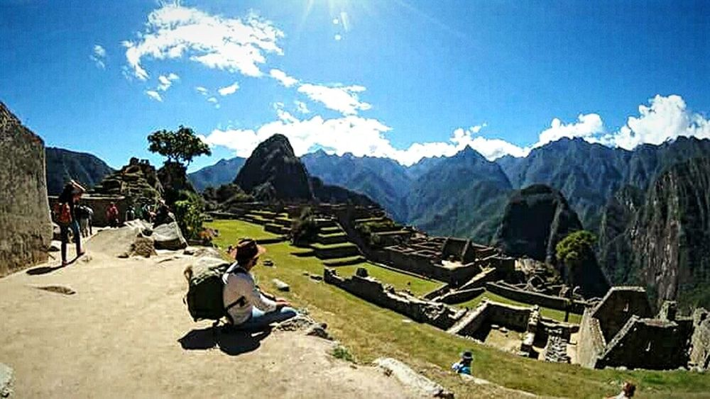 Machu picchu Beauty In Nature Green Color Needle - Plant Part Nature Sky Ancient Civilization Clear Sky