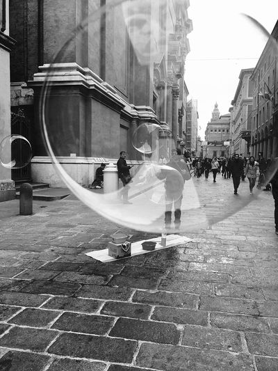 Bologna Seen From A Soap Bubble Architecture Built Structure Building Exterior Real People Day Outdoors Men People Adult Adults Only Welcome To Black Welcome To Black Break The Mold BYOPaper!